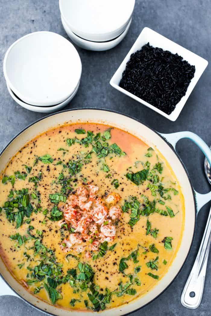 Tasty Butternut Squash Coconut Lobster Soup