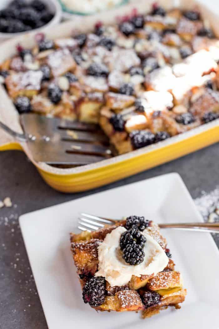 Best Lemon Blackberry Bread Pudding