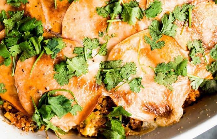 Best Mexican Sweet Potato Quinoa Casserole