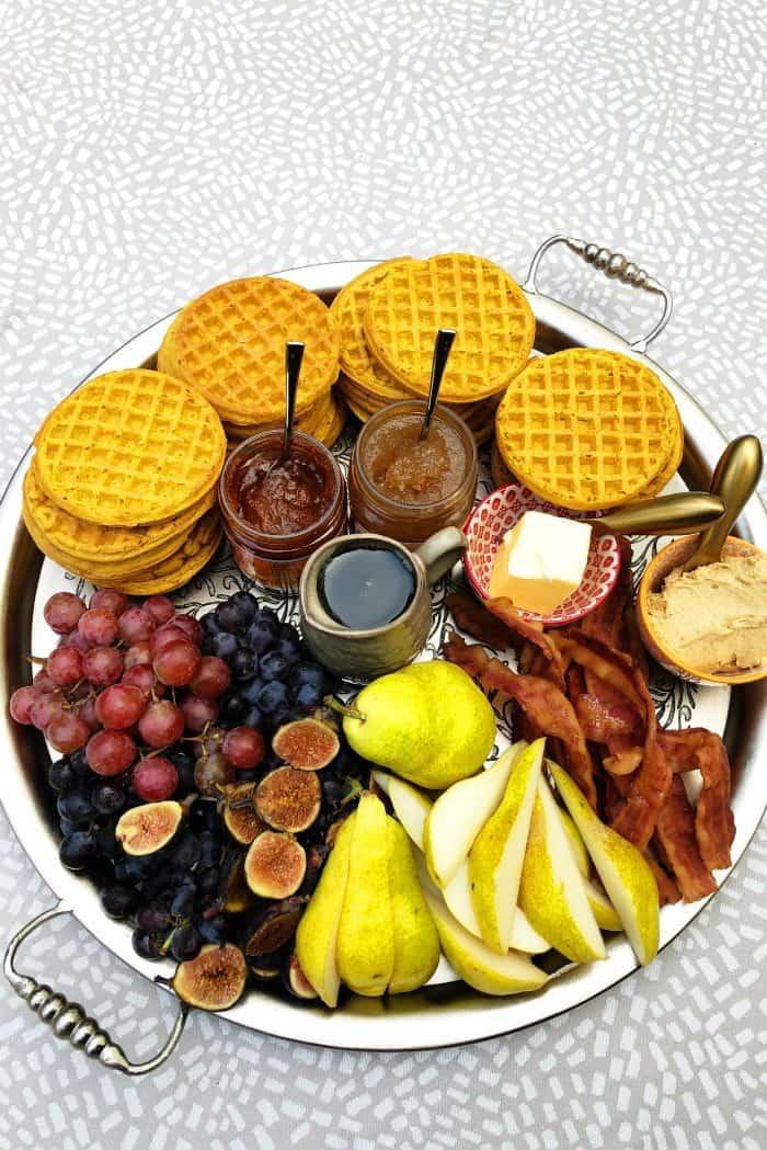 Pumpkin Waffle Board Dinner