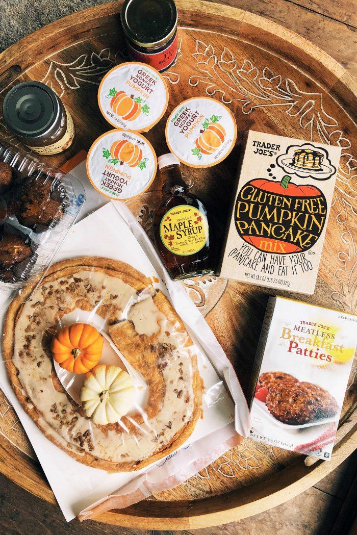 Trader Joe's EPIC Pumpkin Pancakes Board - all ingredients