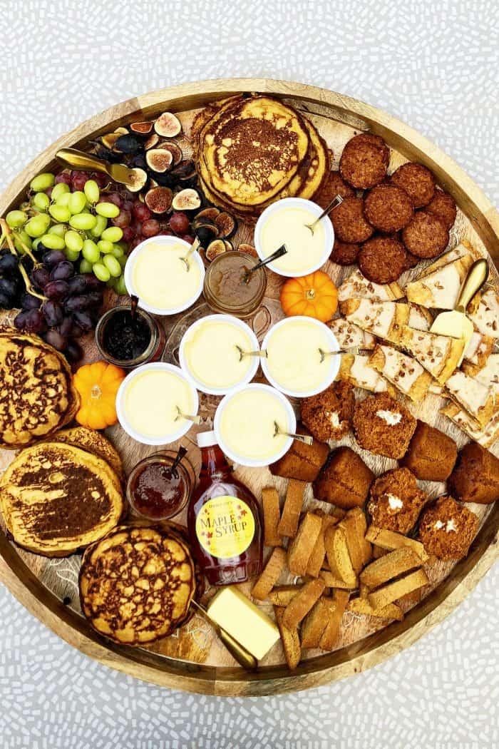 Tasty Trader Joe's EPIC Pumpkin Pancakes Board