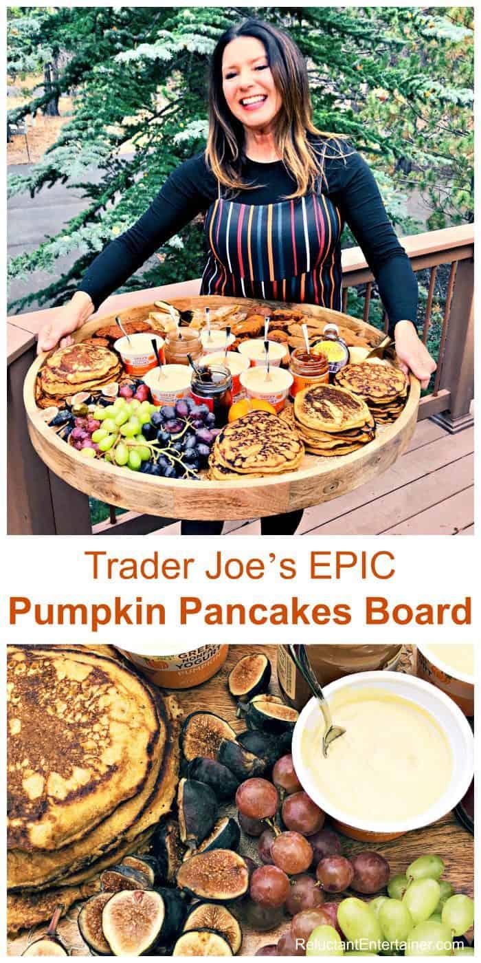 Trader Joe's EPIC Pumpkin Pancakes Board Recipe