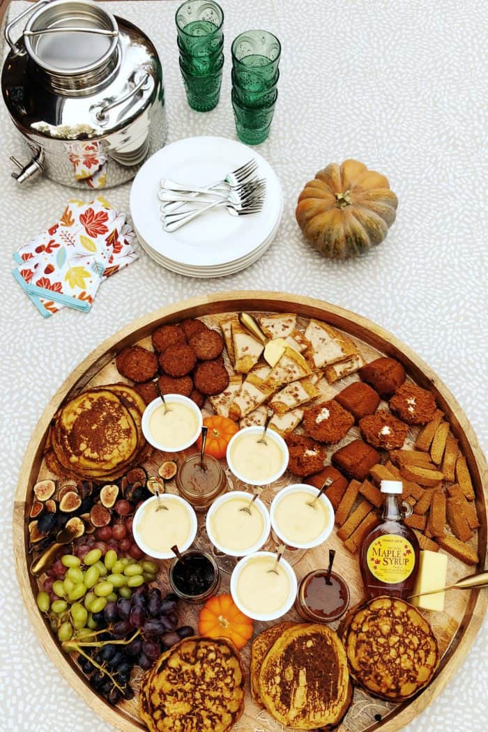 set the table - Trader Joe's EPIC Pumpkin Pancakes Board