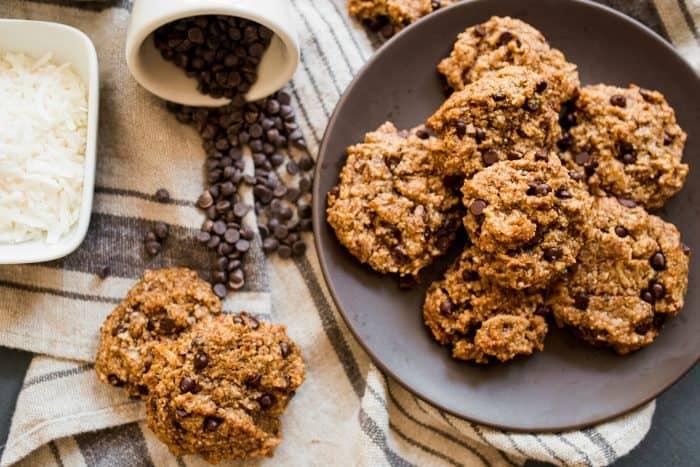 Tahini Coconut Chocolate Cookies