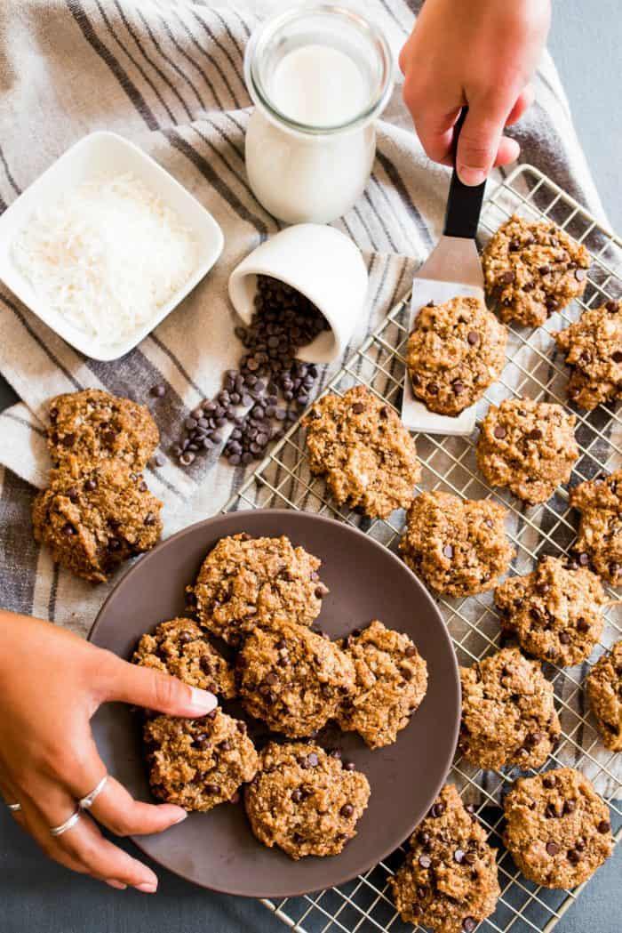 Vegan Tahini Coconut Chocolate Cookies
