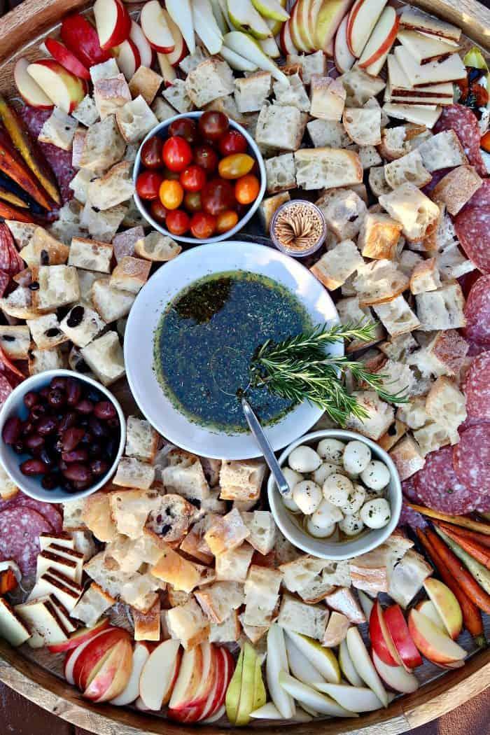 Bertolli® Olive Oil Italian Bread Dipping Oil Charcuterie Board