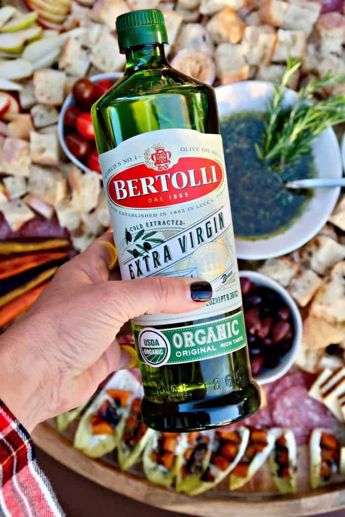 Best Bertolli® Olive Oil Italian Bread Dipping Oil Charcuterie Board