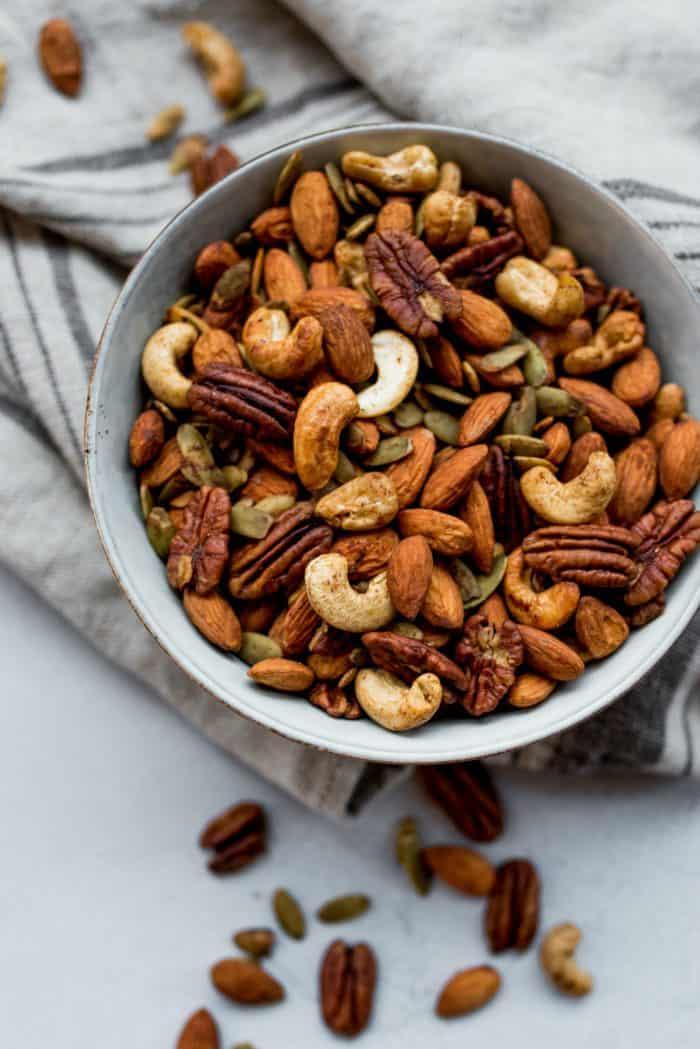 Healthy Cinnamon Orange Roasted Nuts