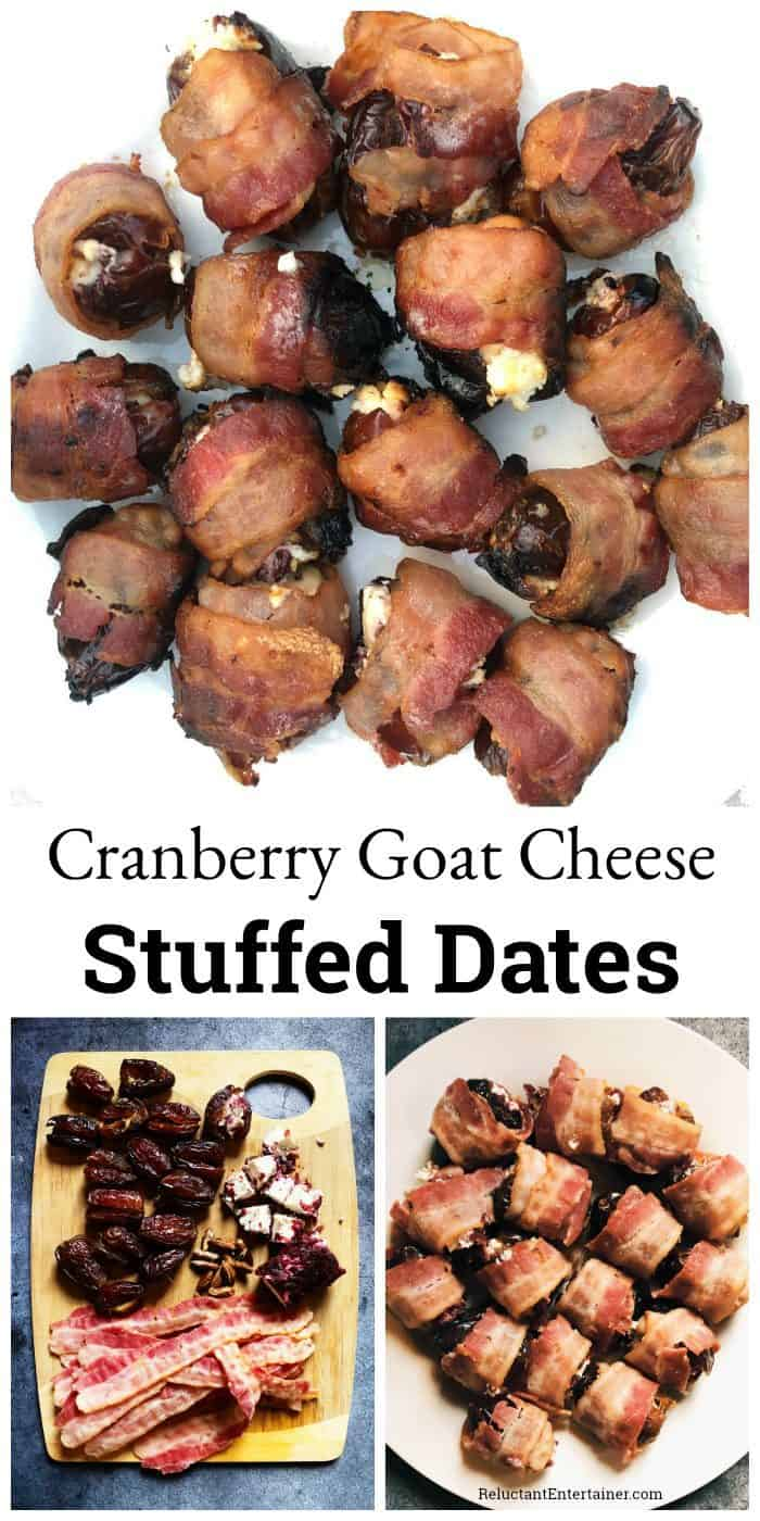 Cranberry Goat Cheese Stuffed Dates Recipe