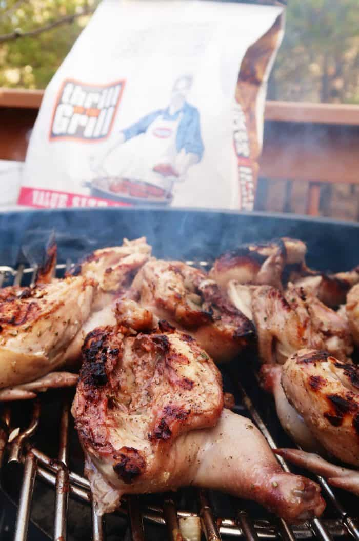 Grilled Cornish Game Hens - on the grill