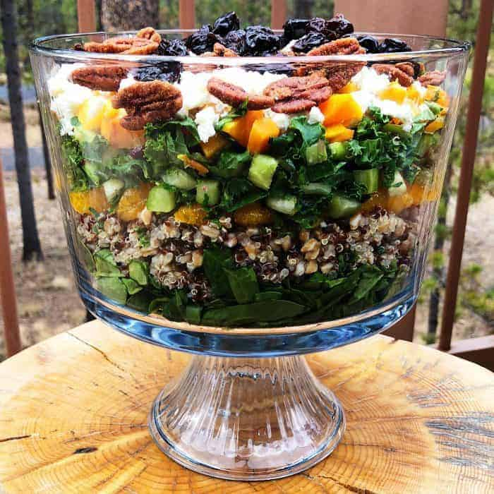 BEST Layered Harvest Quinoa Salad recipe