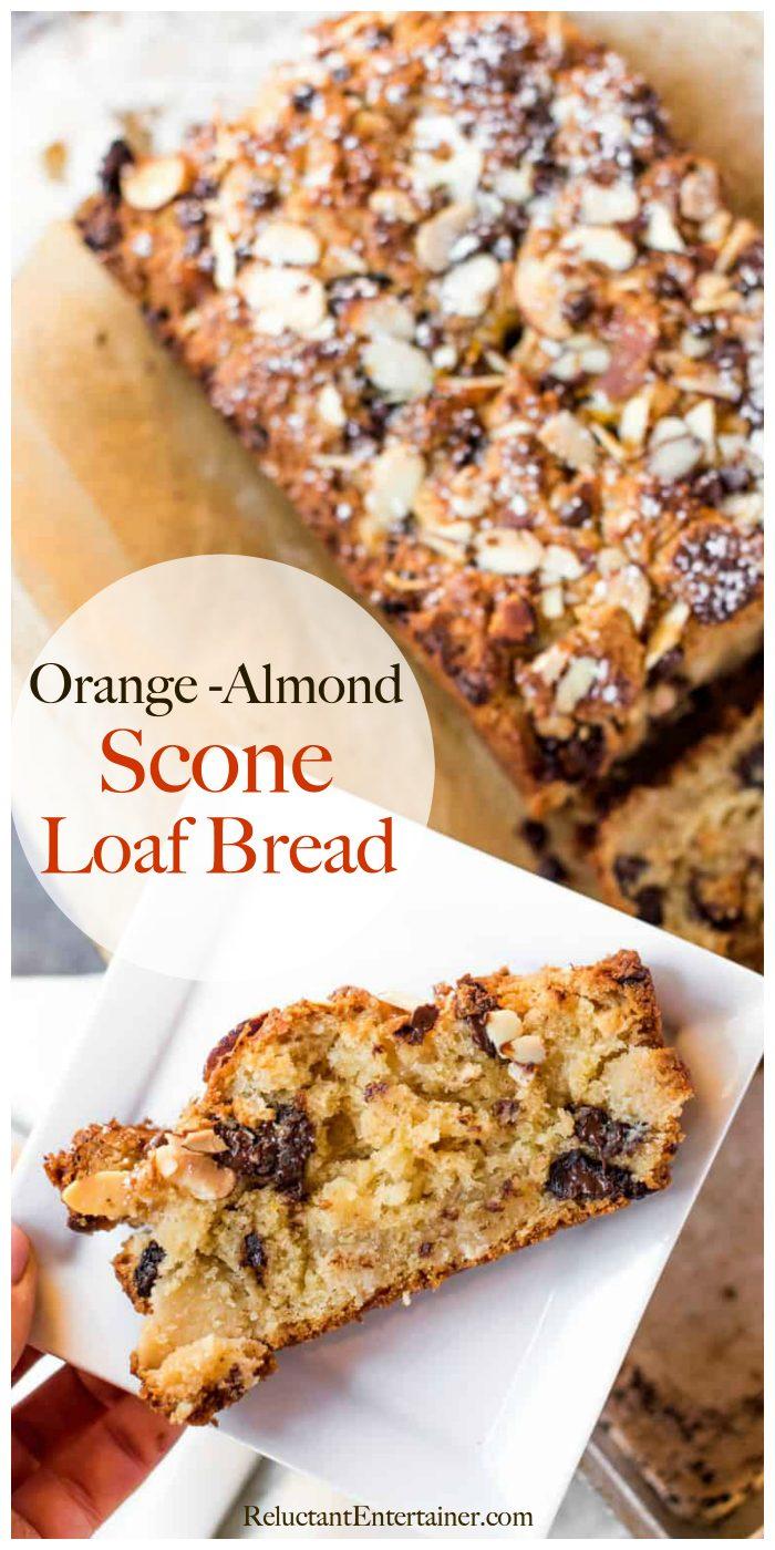 Orange Almond Scone Loaf Bread Recipe