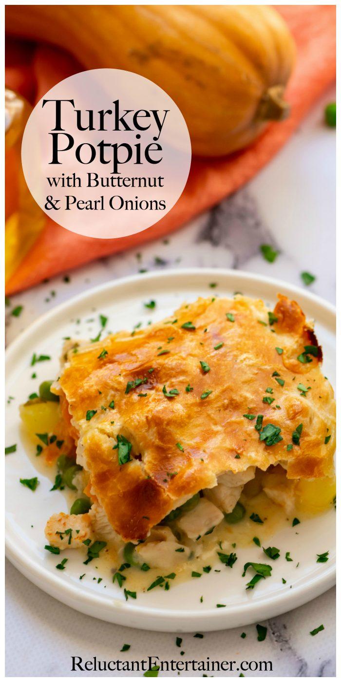 Turkey Potpie with Butternut & Pearl Onions Recipe