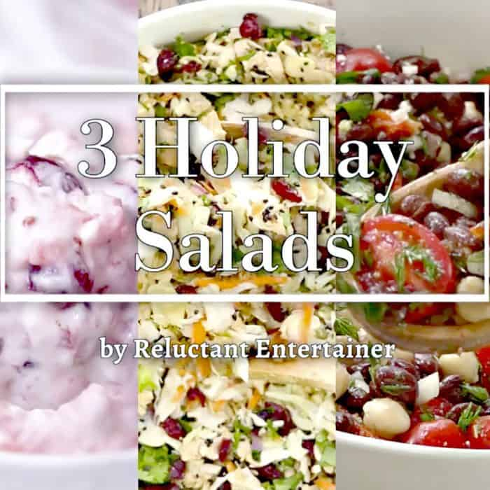 Christmas 3 Holiday Salads Reluctant Entertainer