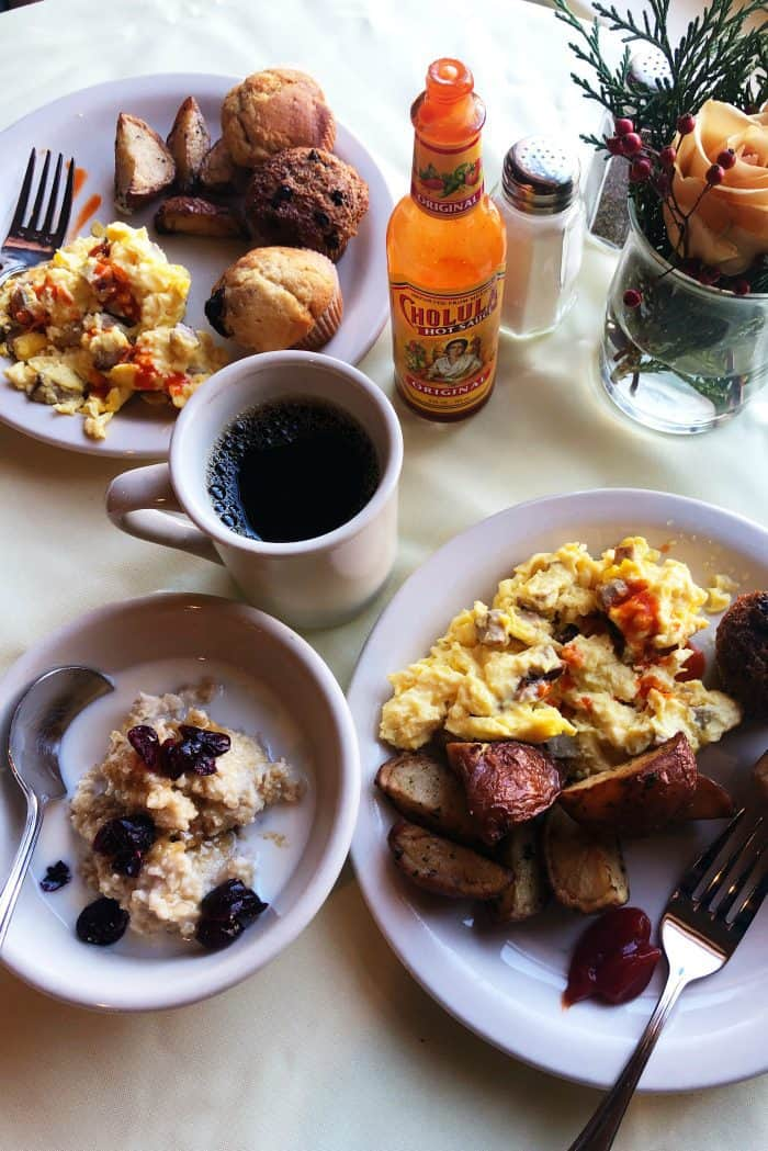 Ashland Springs Hotel Review in Ashland Oregon breakfast