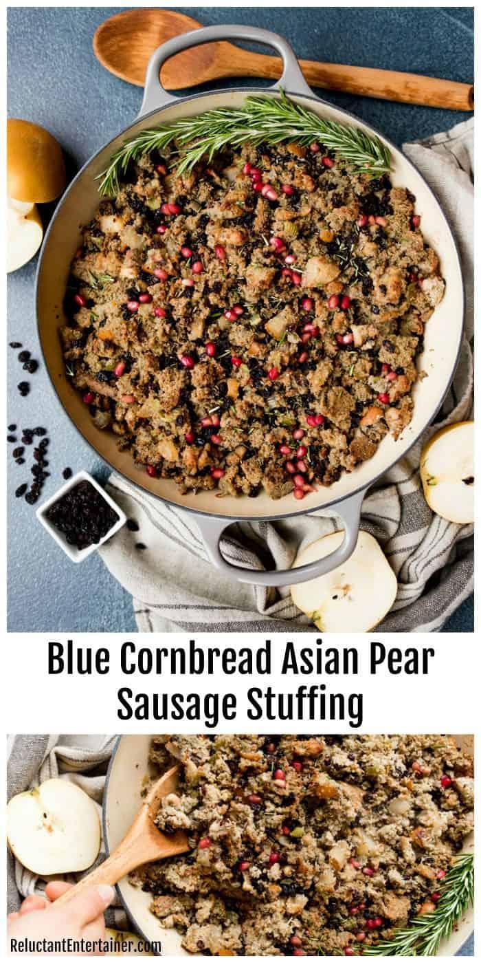 Blue Cornbread Asian Pear Sausage Stuffing Recipe