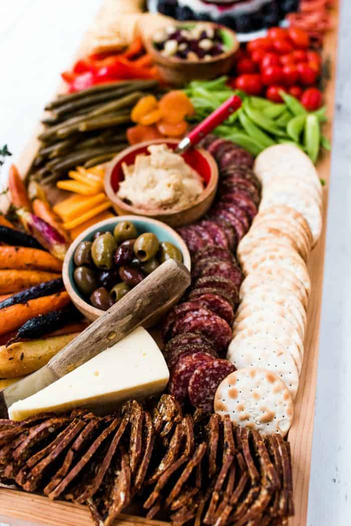 Epic Rectangular Charcuterie Board - olives