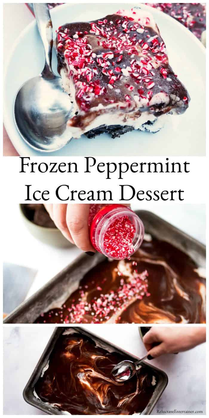 Frozen Peppermint Ice Cream Dessert Recipe