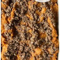 a 9x13 pan of vegan sweet potatoes