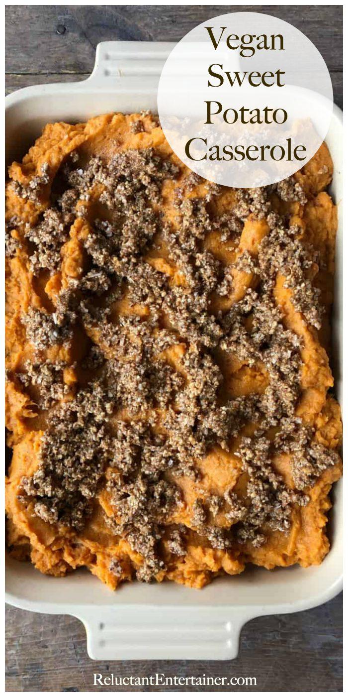 9x13 pan of vegan sweet potatoes