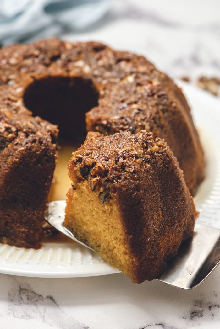 Holiday Rum Bundt Cake Recipe with Nuts