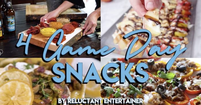 EASY 4 Game Day Snack Recipes