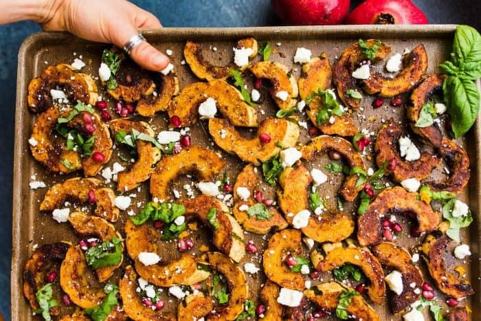 Spicy Delicata Squash Salad with Feta