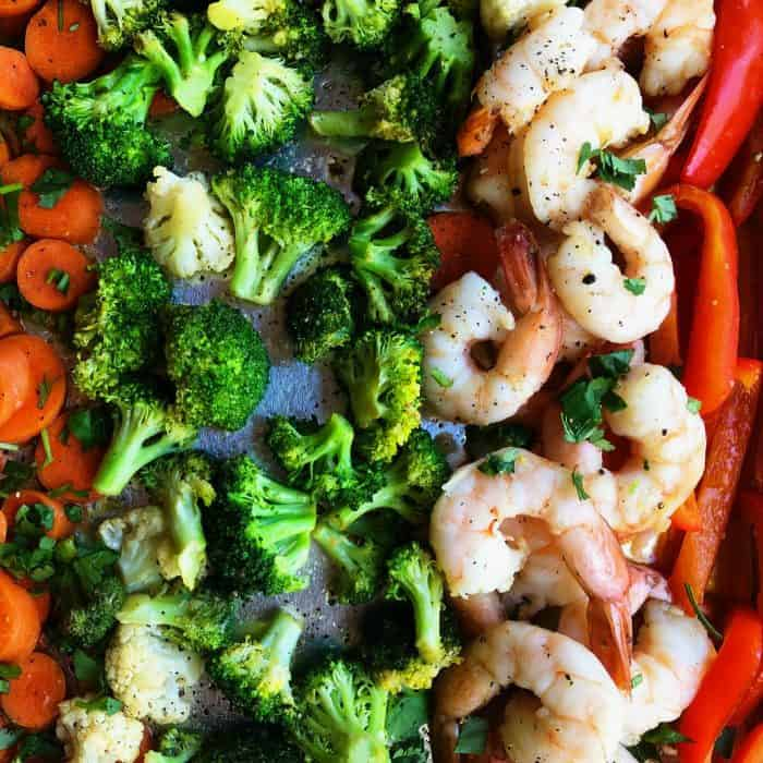 Ginger Shrimp Vegetables Sheet Pan Dinner - how to