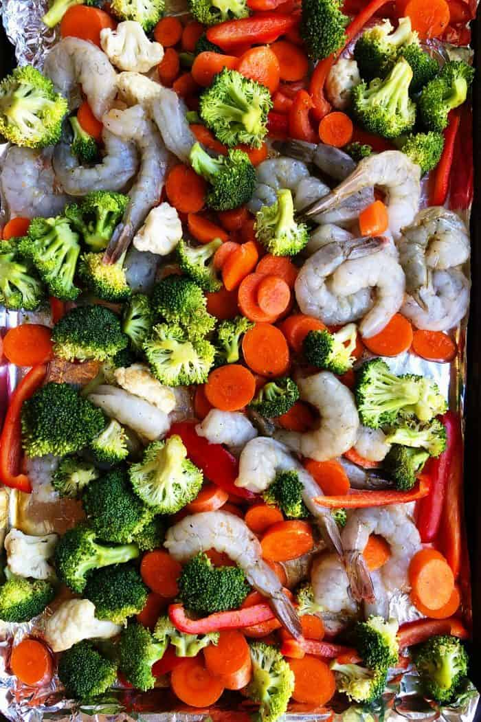 Ginger Shrimp Sheet Pan Dinner