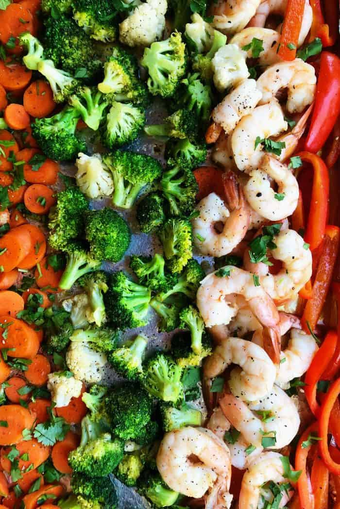 Shrimp Vegetables Sheet Pan Dinner