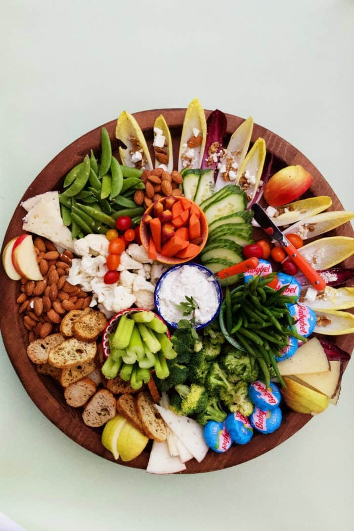 Healthy Cheese Board Recipe - veggies