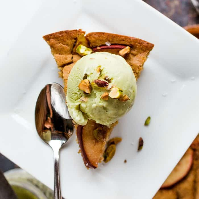 easy Pistachio Pear Olive Oil Cake