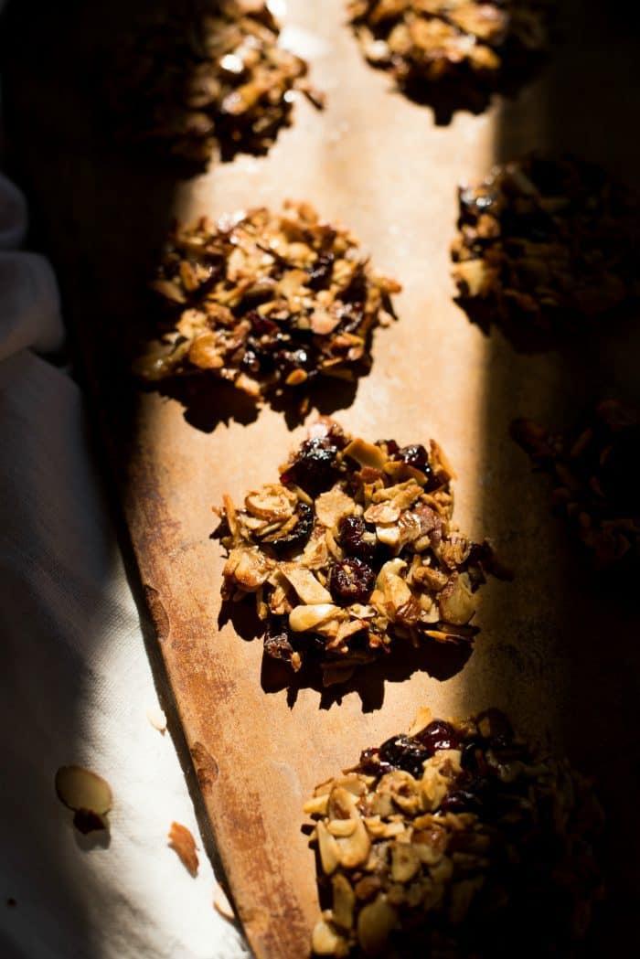 Almond Cranberry Crunch Cookies recipe