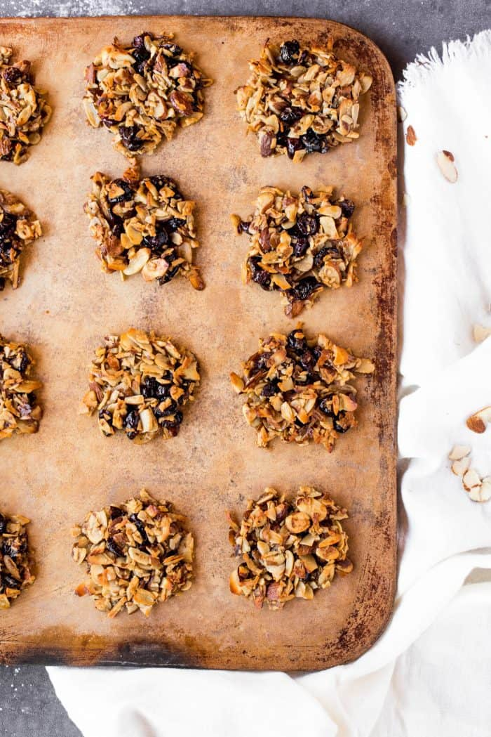 Simple Almond Cranberry Crunch Cookies