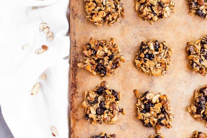 Almond Cranberry Crunch Cookies