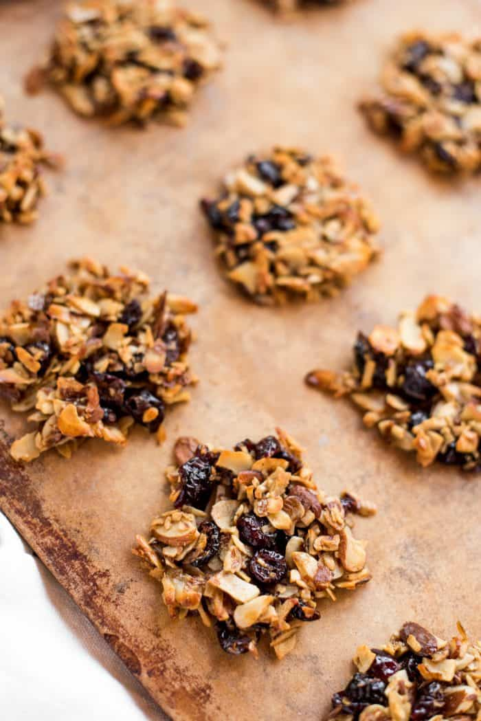 Tasty Simple Almond Cranberry Crunch Cookies