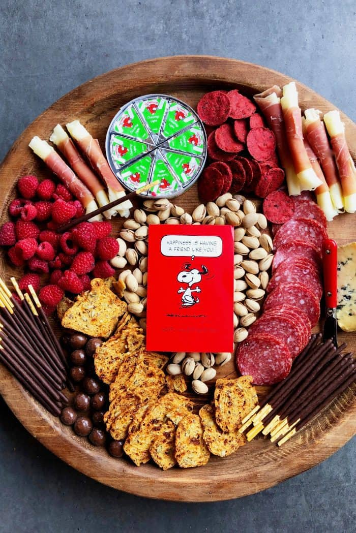 Valentine's Day Date Night Charcuterie Board - snoopy