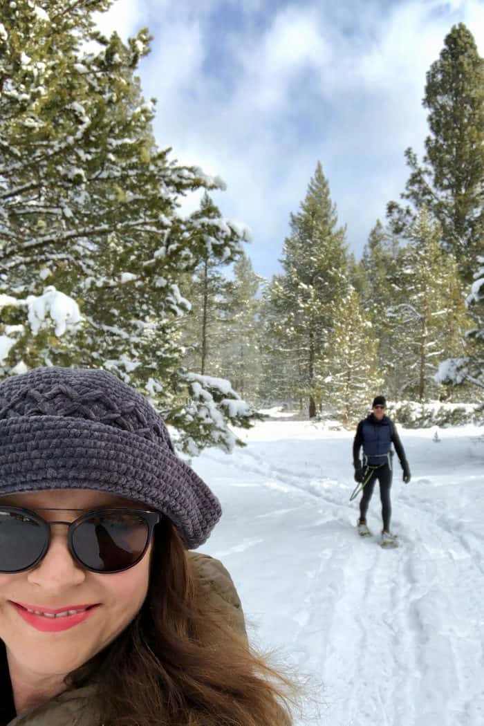 Valentine's Day Date Night Charcuterie Board - snowshoeing