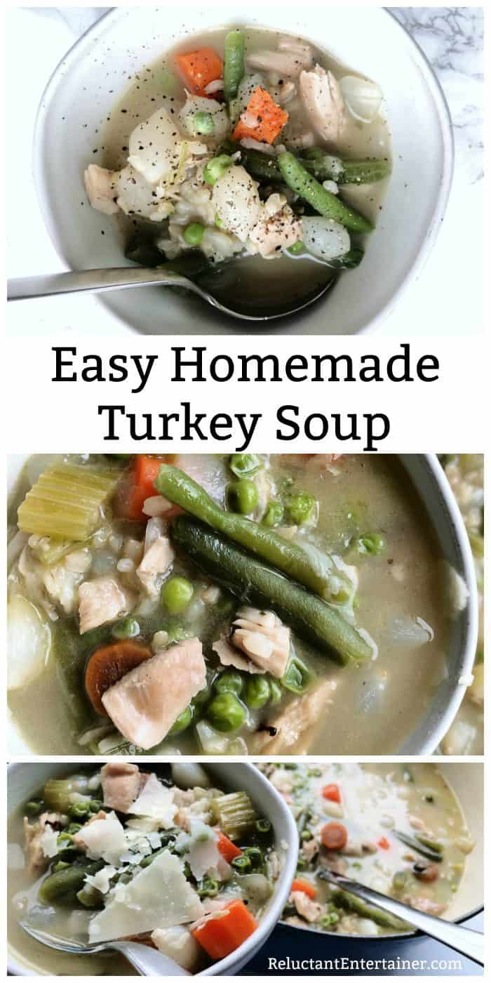 Easy Homemade Turkey Soup Recipe