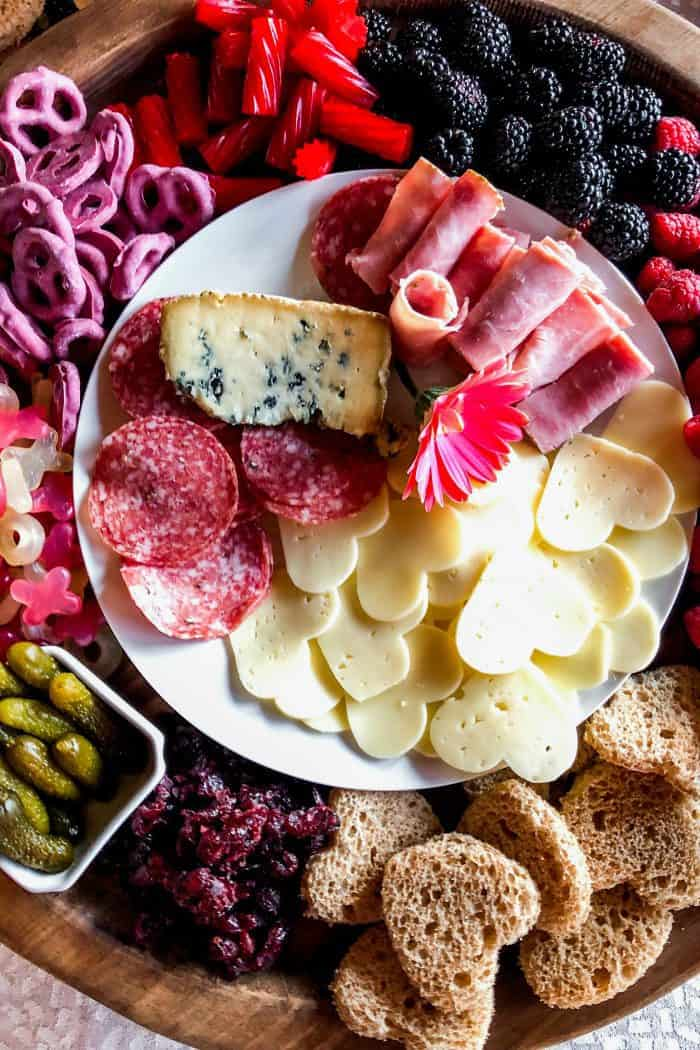 Tasty Galentine's Day Charcuterie Board