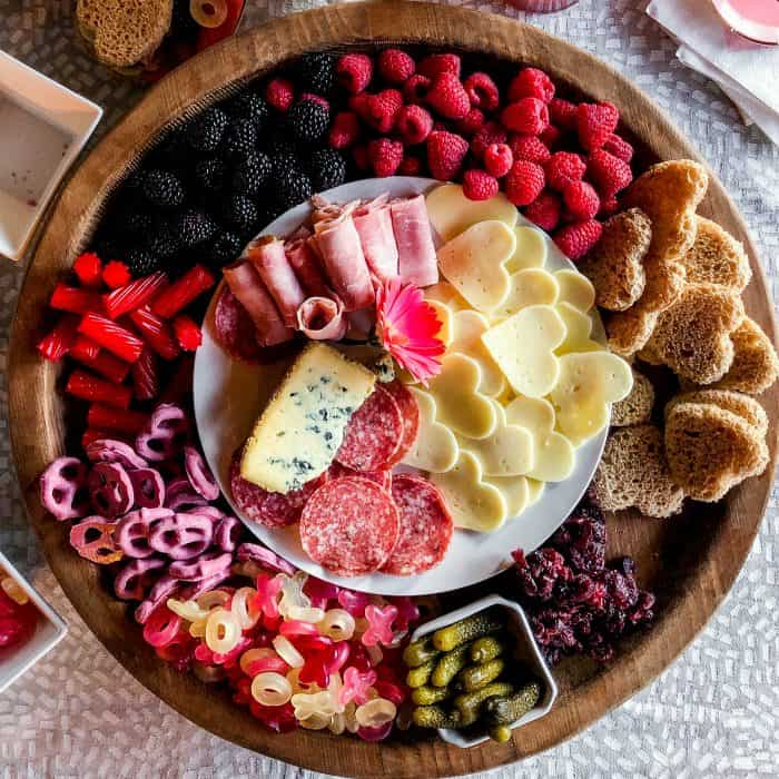 Very Easy Galentine's Day Charcuterie Board