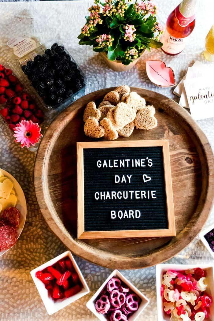 Galentine's Day Charcuterie Board