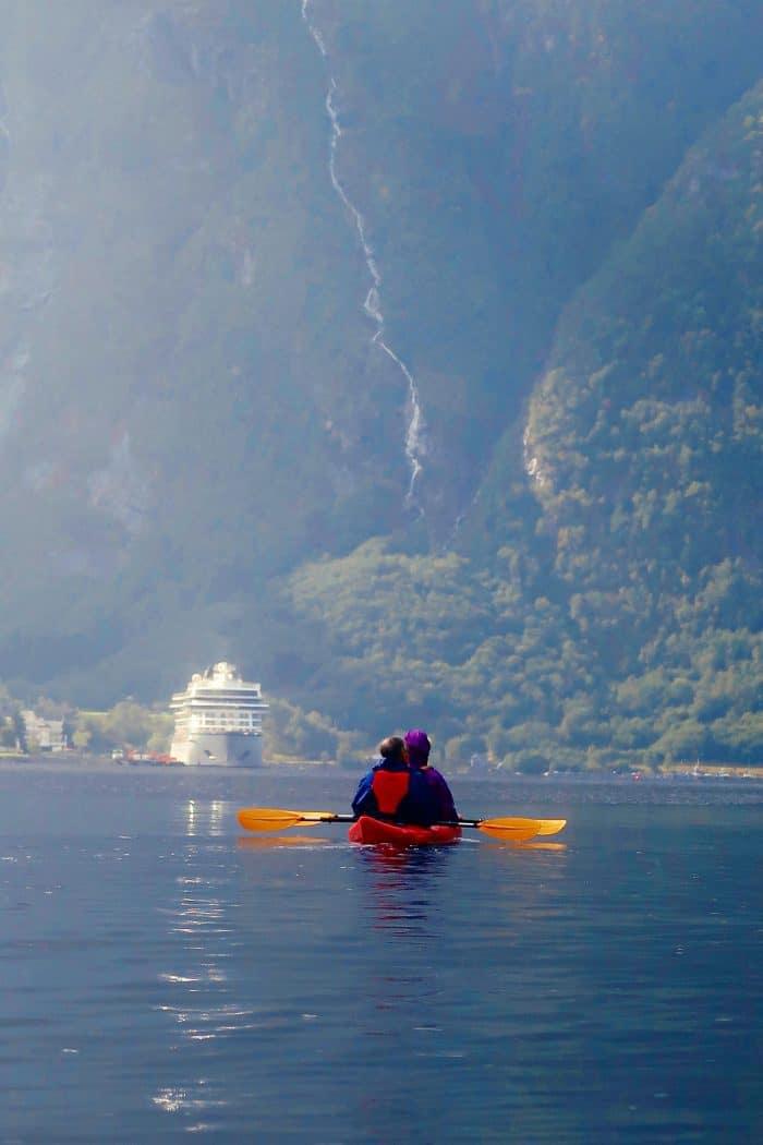Homelands Viking Cruise Excursions Norway - kayaking to ship