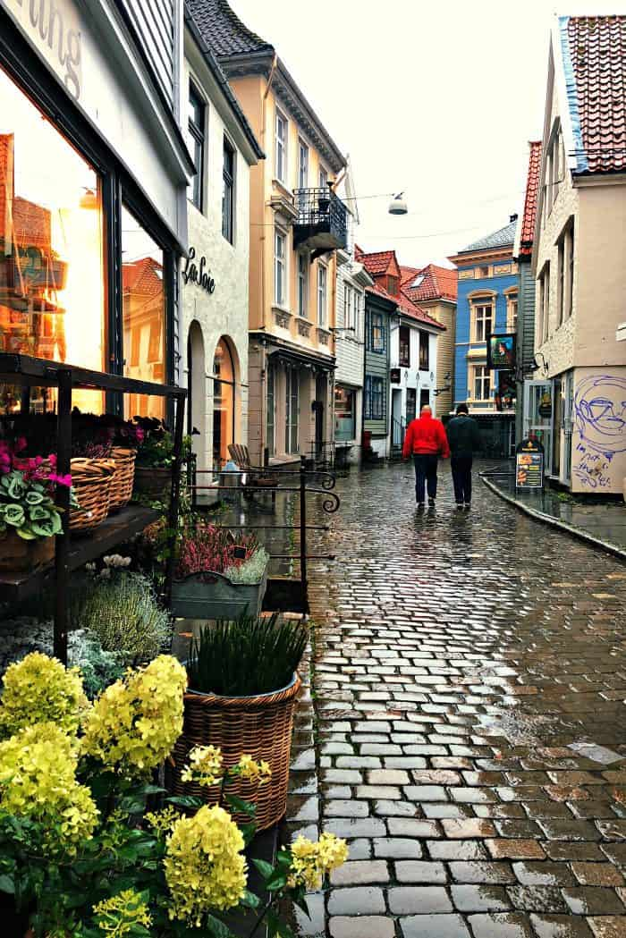 Homelands Viking Cruise Excursions Norway - Bergen rainy streets