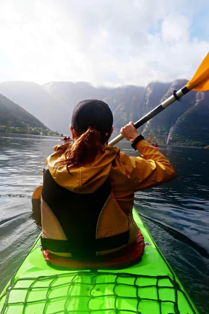 Homelands Viking Cruise Excursions Norway - sandy kayak