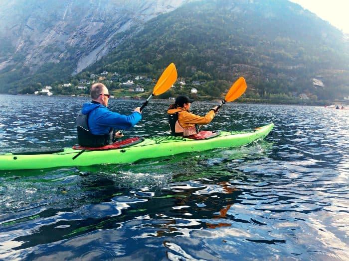 Homelands Viking Cruise Excursions Norway - couple kayaking