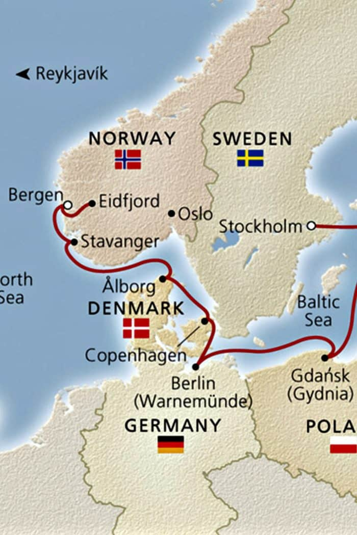 Homelands Viking Cruise Excursions Norway - map