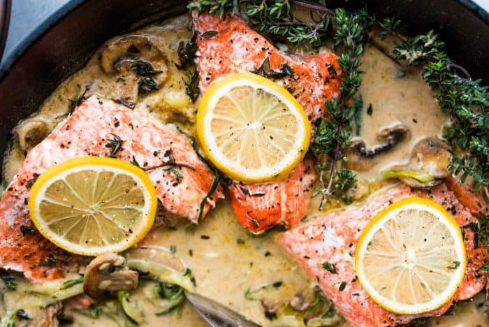 Tasty Salmon Mushroom Zoodle Marsala Recipe