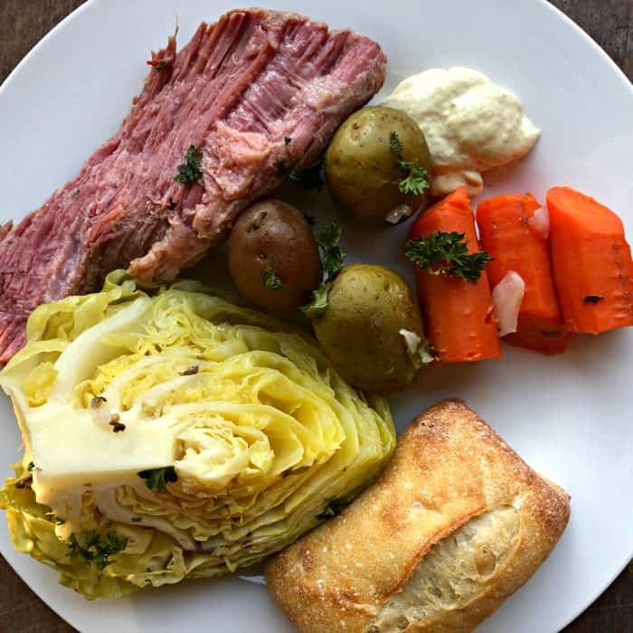 BEST Corned Beef and Cabbage with mustard sauce